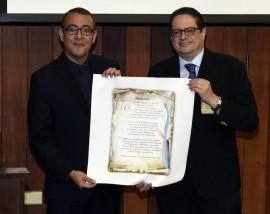 Decano y Rector Noel J. Aymat, rector del RCM, y Ralph Rivera Gutiérrez, decano de la EGSP.