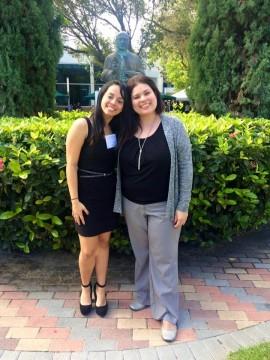 Estudiante Jessica Rios y su mentora Dra Karilys Gonzalez UPR Carolina