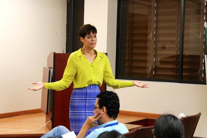 María de Lourdes Santiago visitó la UPR. (Michelle Estades/ Diálogo)