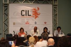De izquierda a derecha: Aurea Soto Mayor, Alexis Diaz Pimienta, Olvido Garcia Valdes y Fabio Morabito. (Deborah A. Rodriguez/ Dialogo UPR)