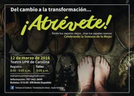 Promoción del  Taller Del Cambio a la Transformacion. (Suministrada)