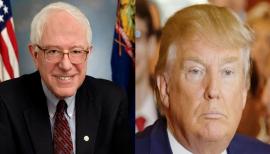 Bernie Sanders y Donald Trump. (Wikipedia)