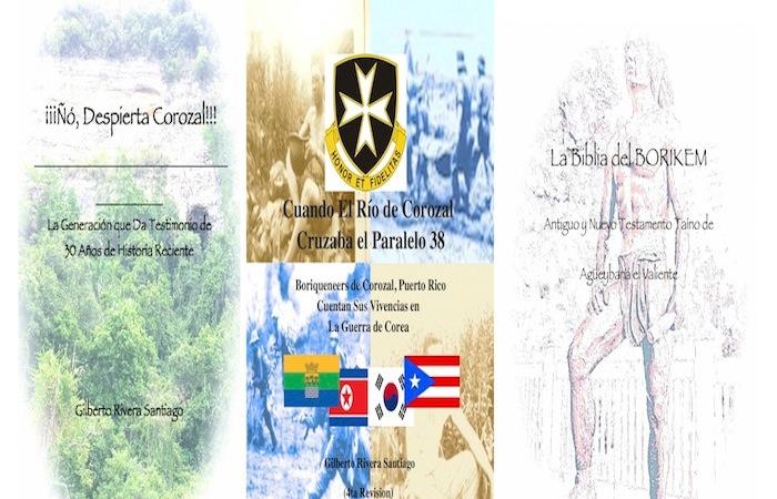 Tres de los libros del autor corozaleño. (Suministrada)