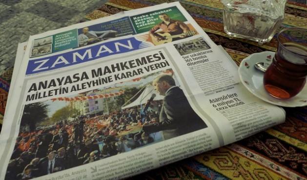 Primera plana del diario Zaman tras ser intervenido. En la foto el presidente Recep Tayyip Erdoğan. (Suministrada)