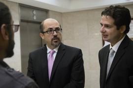 Licenciados Osvaldo Burgos y Luis José Torres Asencio,abogados del CPI, durante vista del caso sobre acceso a la información.