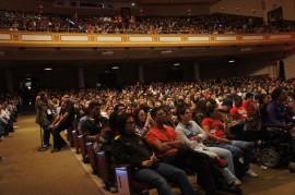 Asamblea de estudiantes del Recinto de Río Piedras de la UPR el 15 de marzo. (Cherish González/ Diálogo)