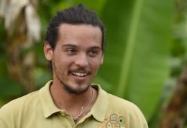 Iván Vallés, estudiante agroecologista del RUM. (Ricardo Alcaraz / Diálogo)
