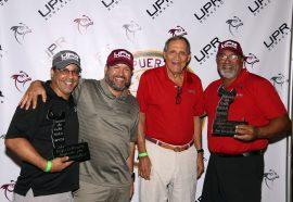 1)Enrique Suárez, en la izquierda, y David Ferrer, en la derecha, obtienen el segundo lugar en la categoría Callaway en el Torneo de Golf 2016 de UPRH. (Suministrada)