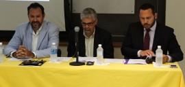 Desde la izquierda Pedro Santiago, Juan A. Gutiérrez y Kevin Rivera. (Antonella Vega / Diálogo)