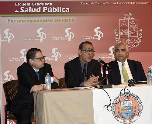 Desde la izquierda, el doctor Noel Aymat, el doctor Ralph Rivera y el doctor Hiram Arroyo. (Suministrada)