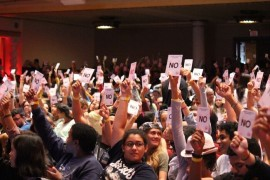 Asamblea de estudiantes en la UPRRP. (Cherish González/ Diálogo)