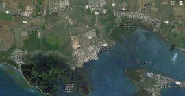 Imagen del Poblado de Aguirre en la bahía de Jobos en Salinas. (Google Maps)
