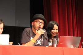 Anibal Yariel López en la Asamblea General de Estudiantes UPR RP. (Cherish González/ Diálogo)