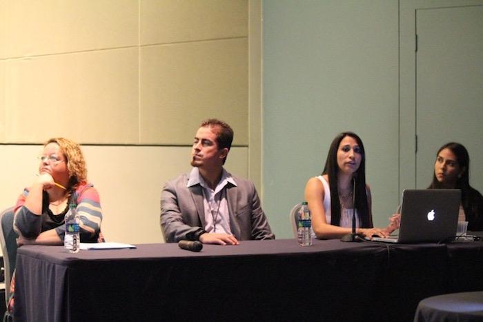 Desde la izquierda, Rosa Rosario, Alberto Velázquez, Emma Bruno y Dharma Rodríguez. (Cherish González / Diálogo)