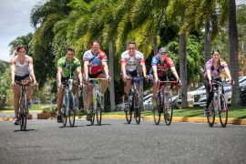Algunos de los ciclistas (Suministrada).