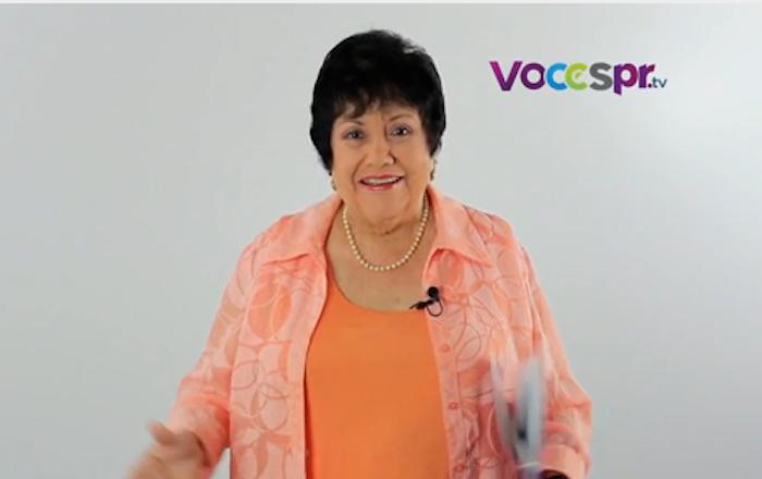 Velda González, actriz y exsenadora.
