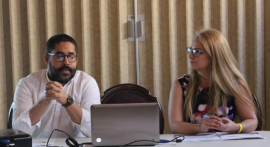 Javier Hernández Acosta y Teresa Marrero