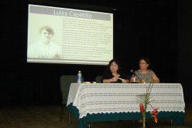 La doctora Norma Valle Ferrer, periodista e investigadora histórica, habló a los presentes sobre la aportación de la figura de Luisa Capetillo. (Suministrada)
