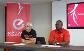 Desde la izquierda, José Aponte y el rector Carlos E. Severino. (Antonella Vega / Diálogo)