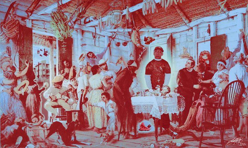 """Adaptación de """"El Velorio"""" de Francisco Oller. (Foto suministrada / Luis Cintrón Gutierrez)"""