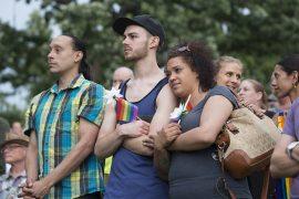 Vigilia por la masacre en Pulse, Orlando, Florida