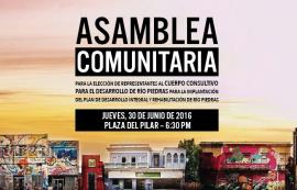 Promoción de la Primera Asamblea Comunitaria para la elección de los representantes al Cuerpo Consultivo  de Rehabilitación de Río Piedras.  (Suministrada)