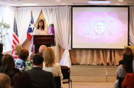 La jueza presidenta del Tribunal Supremo, Maite D. Oronoz Rodríguez, fue la oradora principal de la actividad. (Suministrada)