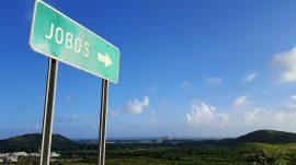 Al fondo, la comunidad de Jobos en Guayama. (Foto por La Perla del Sur)