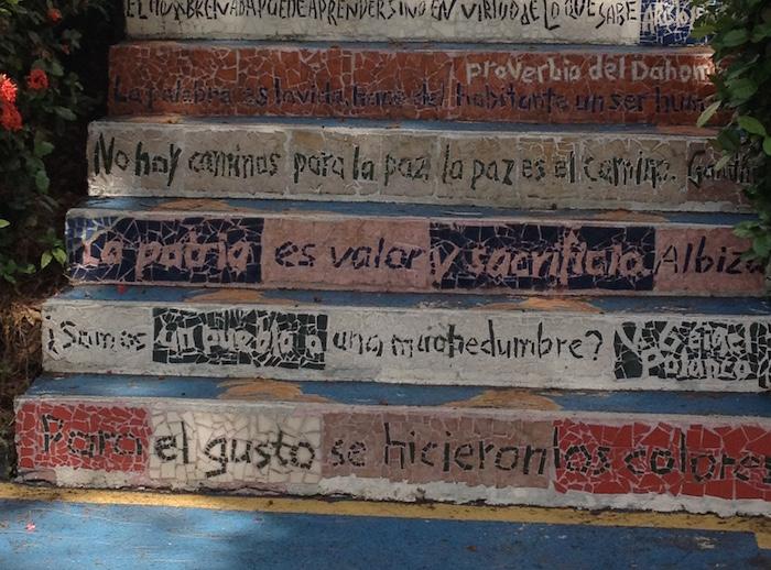 Escaleras Letradas en la UPR Cayey.