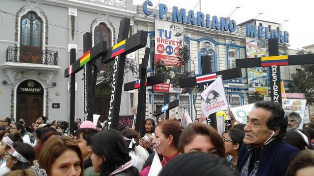 """Marcha: """"Ni Una Menos"""", en Lima."""