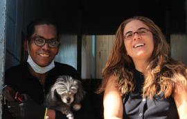Diana de Santa Fe, perrita Lucy y directora Carmen Oquendo