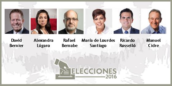 Candidatos a la gobernación en la elecciones 2016
