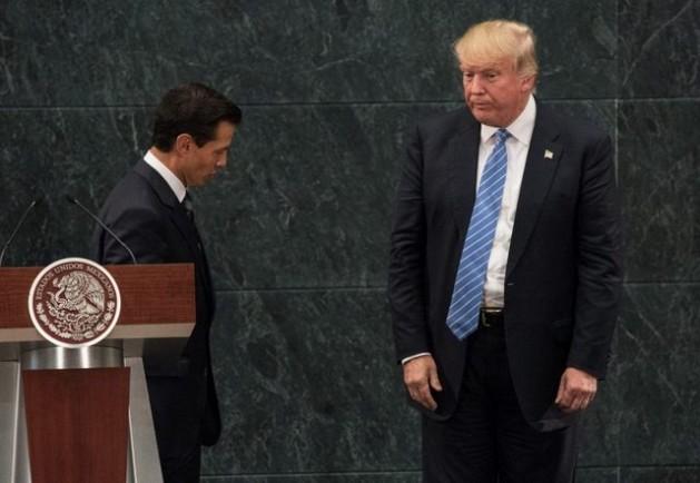 Encuentro en Los Pinos, la residencia presidencial, de Enrique Peña Nieto, presidente de México, con Donald Trump, candidato presidencial del Partido Republicano de Estados Unidos. Alejandro Meléndez/ Enelcamino