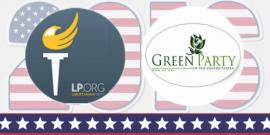 Logo del Partido Libertario y el Partido Verde. (Fotomontaje)