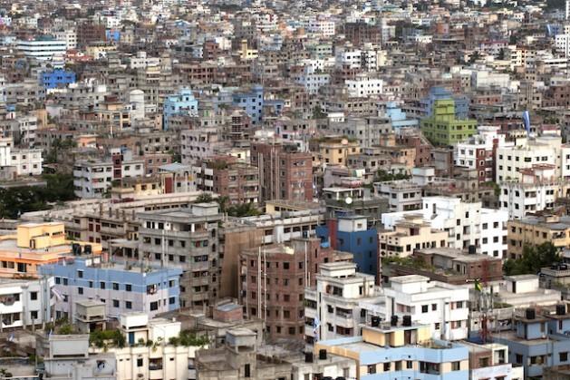 Vista de la ciudad de Daca, Bangladesh. Asia Pacífico vive un rápido proceso de urbanización. Crédito: Kibae Park/UN Photo.