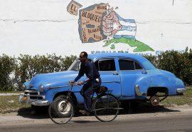 Un grafiti en una calle de La Habana contra el bloqueo o embargo económico, comercial y financiero con el que desde 1962 Estados Unidos castiga a Cuba y que el presidente Barack Obama ha buscado horadar lo máximo que puede desde el poder ejecutivo. (Jorge Luis Baños / IPS).
