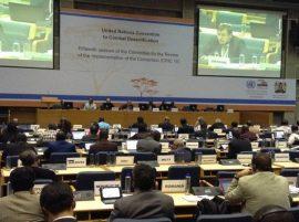 Delegados en la 15 sesión del Comité de Revisión de la Implementación de la Convención (CRIC 15) de las Naciones Unidas para la Lucha contra la Desertificación (UNCCD), realizada en Nairobi del 18 al 20 de octubre de 2016. Crédito: Justus Wanzala/IPS.