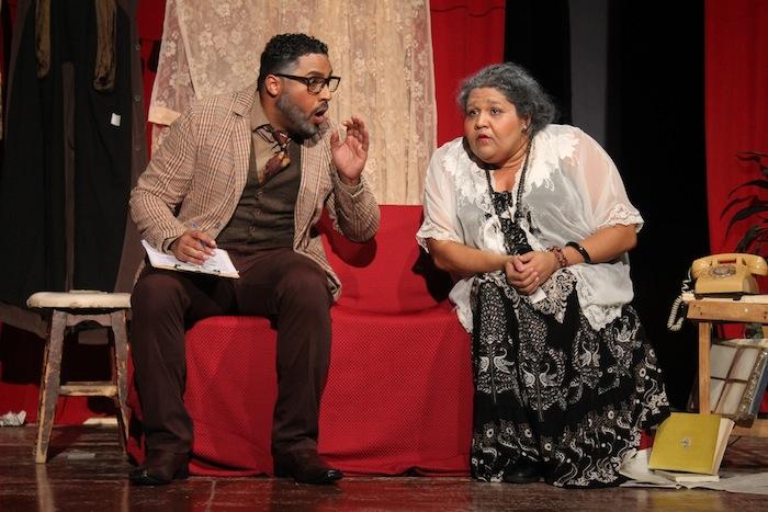 los actores Rafael Pagán y Janibeth Santiago mientras representaban a la isla en Santiago de Cuba