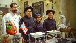 concurso-culinario-en-cuba-prof-alan-rodriguez-ests-alexis-afanador-gabriela-garcia-y-jonathan-baez-escuela-hotelera-upr-carolina