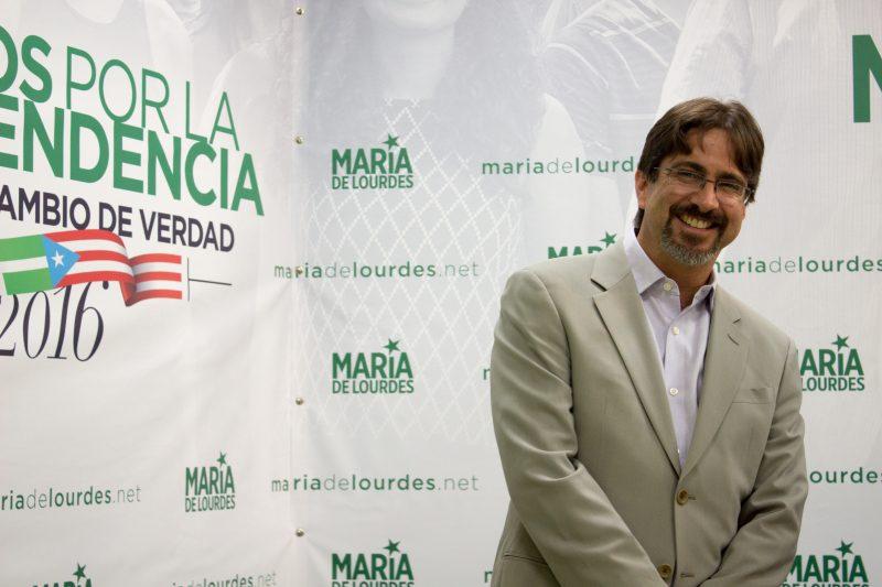Hugo Rodríguez, candidato a la comisaría residente por el PIP.