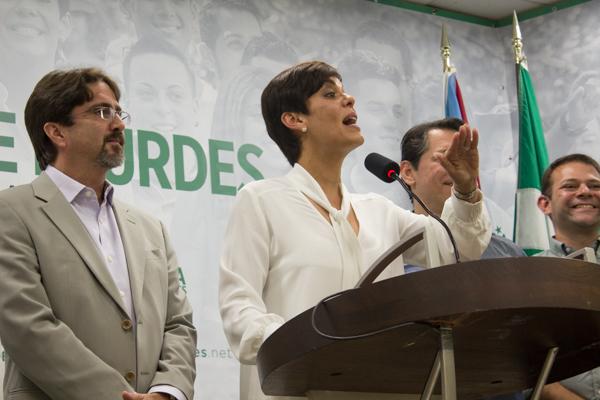 La candidata a la gobernación aceptó la derrota en la tarde de hoy. (Carla Pérez/Diálogo)