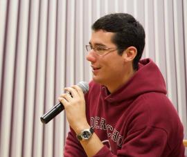 Giancarlo Colberg Ferrer, presidente del Consejo de Estudiantes de la Escuela de Derecho (Facebook)