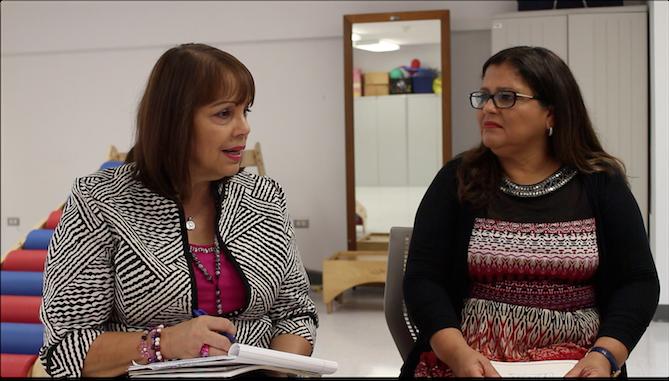 Dyhalma Irizarry y María Rohena, profesoras de terapia ocupacional en el Recinto de Ciencias Médicas de la UPR. (Diálogo)