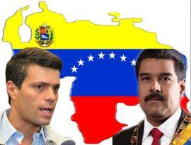 Leopoldo López y Nicolás Maduro.