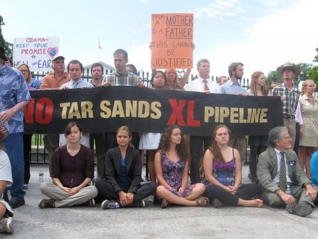 Protesta contra el oleoducto XL en Estados Unidos. Crédito: Kanya D'Almeida/IPS
