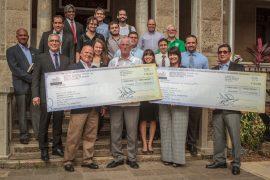 Empleados de Infotech egresados del        RUM entregan donativos para Centro Aeroespacial e    investigacion (Suministrada)
