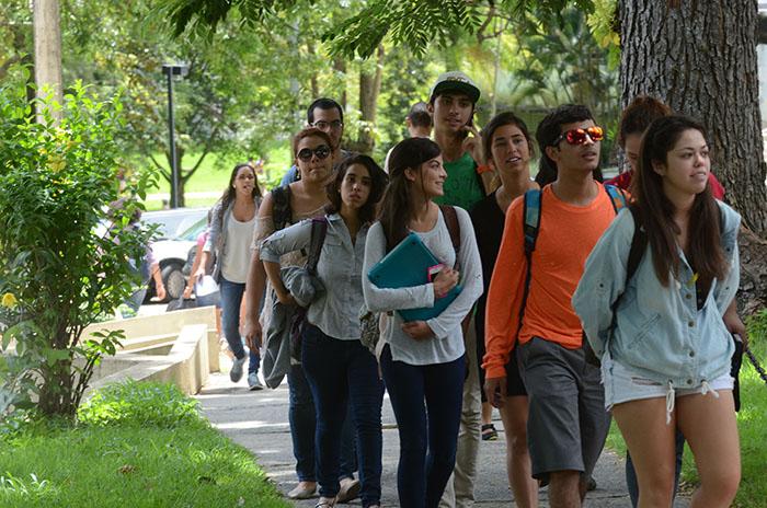 Estudiantes en el recinto de RP/10 septiembre 2013