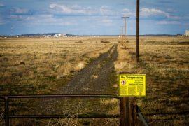 En el perímetro de la reserva nuclear de Hanford, en el estado de Washington, en Estados Unidos. Crédito: Jason E. Kaplan/IPS.