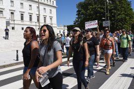 Protesta en contra de la Reforma Laboral. (Ricardo Alcaraz/ Diálogo)