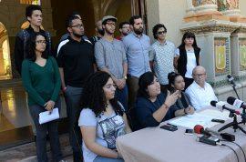 Conferencia de prensa en la UPRRP. (Ricardo Alcaraz/ Diálogo)